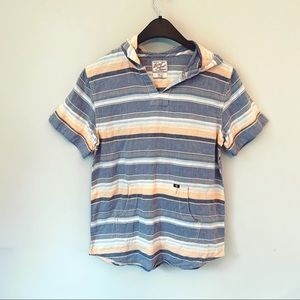 Lucky Brand Short Sleeve Hooded Top Large